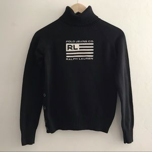 Ralph Lauren Polo Jeans Flag Sweater Black Medium